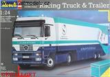 SAUBER PETRONAS RACING TRUCK WITH TRAILER