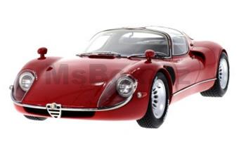 ALFA ROMEO TIPO 33 STRADALE 1967 RED LIMITED EDITION 500 PCS.