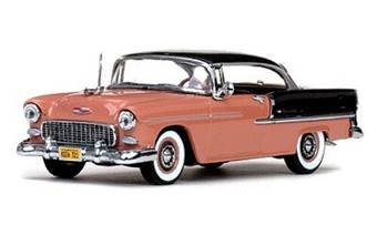 CHEVROLET BEL AIR HARD TOP 1955 SHADOW GRAY/CORAL