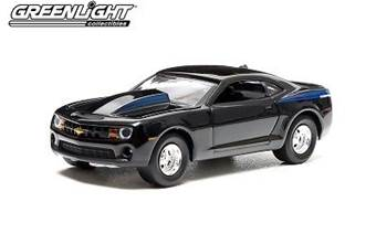 CHEVROLET COPO CAMARO 2012 BLACK BLUE STRIPES