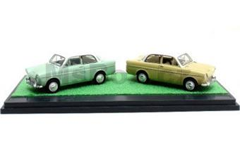 DAF 600 1958 GREEN WITH DAF 600 1958 YELLOW