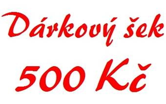 Dárkový šek 500 Kč elektronický