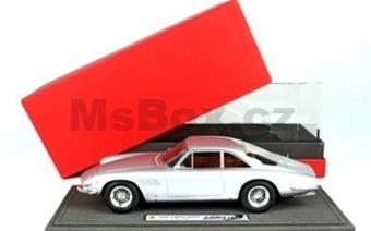 FERRARI 500 SUPERFAST SERIE 1 1964 SILVER WITH VITRINE
