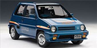 HONDA CITY TURBO II  BLUE WITH STRIPES WITH MOTOCOMPO