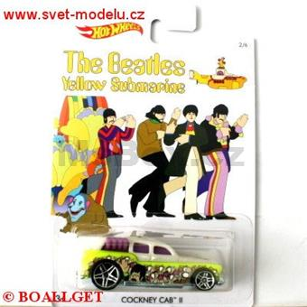 HOTWHEELS AUTÍČKO THE BEATLES YELLOW SUBMARINE ŽLUTÁ PONORKA COCKNEY CAB II