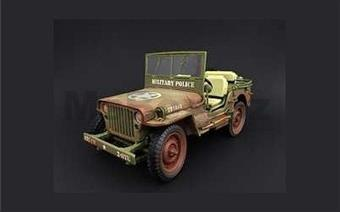 JEEP WILLYS MILITARY POLICE 1944 DIRTY VERSION LIMITED EDITION 240 PCS.