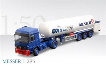 MERCEDES-BENZ ACTROS WITH 3-AXLE GAS TANK TRAILER MESSER T 285