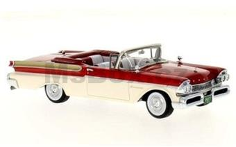 MERCURY TURNPIKE CRUISER CONVERTIBLE 1957 RED / WHITE