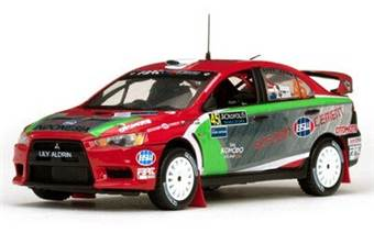 MITSUBISHI LANCER EVOLUTION X #45 S.Aksa / J.Judd 2nd PWRC - Acropolis Rally 2012
