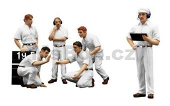 PIT CREW FIGURINES CLASSIC STYLE WHITE 1:18