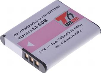 Baterie T6 power Li-50B, D-Li92, DB-100, VW-VBX090, NP-150, LB-050, LB-052, GB-50A