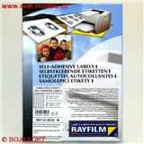 Samolepící etikety foto lesklé 48. 5 x 31. 2 RAYFILM pro inkoustové tiskárny A4,  100 listů v balení