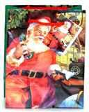 Taška vánoční 23x18x10 JEŽÍŠEK  pevný lakovaný papír
