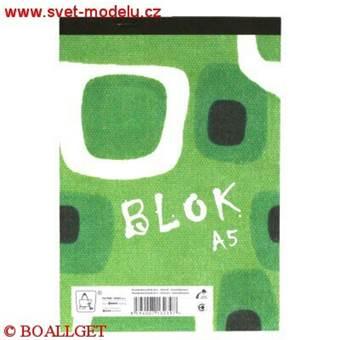 Blok 15055 eko - A5 čtverečkovaný, 50 listů
