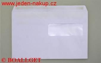 Poštovní obálka C5 okénková - okénko vpravo nahoře