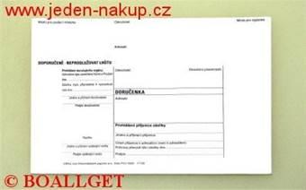 Poštovní obálka doručenka C6 bílá s textem vytrhávací okénko