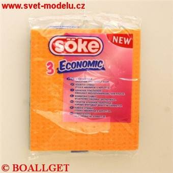 Utěrka 15,5x17,5 houbová 3 ks Söke Economic
