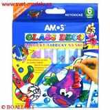Barvy na sklo AMOS 6 ks slupovací sada 6 ks x 10, 5 ml