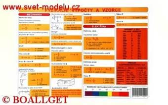 Tabulka Fyzikální výpočty a vzorce  a  Fyzikální veličiny a jednotky