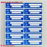 Samolepící etikety ZP 1 arch - 14 štítků