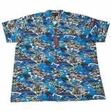 Pánská havajská košile Kamro 16285/ 194 vel.  5XL - 12XL krátký rukáv