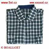 Pánská košile modro-bílé káro dlouhý rukáv