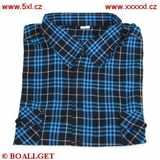 Pánská košile modro-černý proužek bavlna dlouhý rukáv
