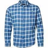 Pánská košile NORTH 56°4 modrá flanelová s dlouhým rukávem 3XL - 10XL