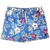 Pánské plavky modré s květinovým vzorem 4XL - 6XL