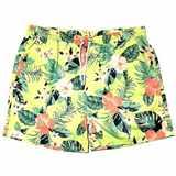 Pánské plavky zelené s květinovým vzorem 4XL - 6XL
