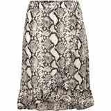 Sukně černo-bílá s potiskem  - velikost 56