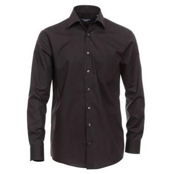 Pánská košile Casa Moda Comfort Fit černá dlouhý rukáv vel. 49 - 56 (4XL - 7XL)