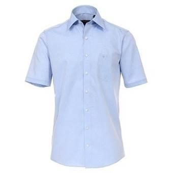 Pánská košile Casa Moda Comfort Fit modrá krátký rukáv vel. 49 - 56 (4XL - 7XL)