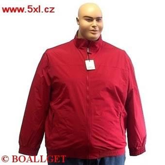 Pánská zimní bunda BOMBER INTERNO PILE tmavě červená 7XL - 8XL