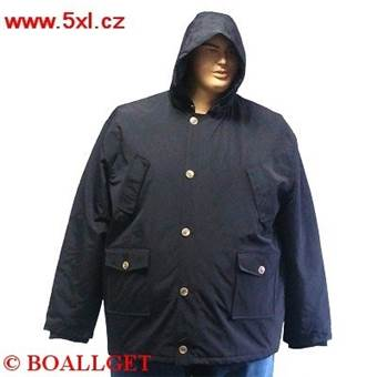 Pánská zimní bunda - parka tmavě modrá TECNICO CAPPUCCIO  6XL - 8XL