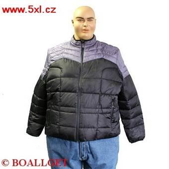 Pánská zimní bunda PIUMINO BICOLORE černo-šedá 6XL - 8XL