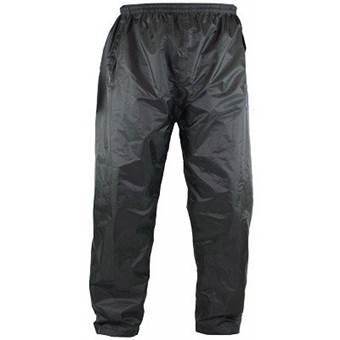 Pánské šusťákové nepromokavé kalhoty KS14641B na gumu - návlekové černé XL - 7XL