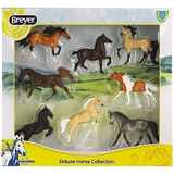 BREYER KONĚ DE LUXE HORSE COLLECTION 8 KONÍ