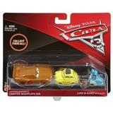 CARS 3 AUTA 3 BLESK MCQUEEN AS CHESTER WHIPPLEFILTER & LUIGI WITH QUIDO 2-PACK