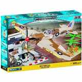 COBI 5546 SMALL ARMY WORLD WAR II LETADLA SUPERMARINE SPITFIRE MAINTENANCE HANGAR