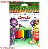 Pastelky Conté Evolution 18 barev dlouhé nelámavé ohebné