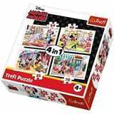 PUZZLE TREFL 34315 4 v 1 35, 48, 54 a 70 dílků MINNIE MOUSE