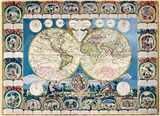 STARÁ MAPA SVĚTA PUZZLE CLEMENTONI 1500 dílků