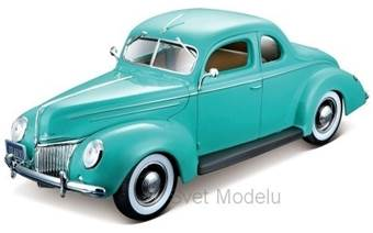 FORD DE LUXE COUPE 1939 TURQUOISE