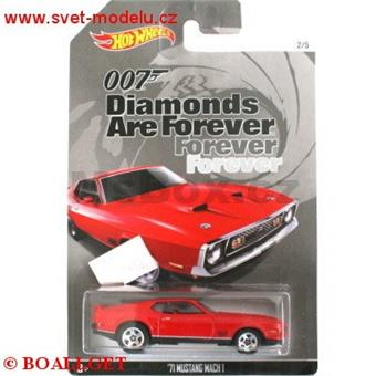 HOTWHEELS JAMES BOND AGENT 007 DIAMONDS ARE FOREVER FORD MUSTANG MACHI 1971