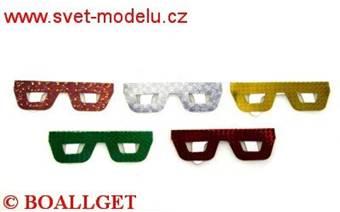 Maska brýle - škraboška laser