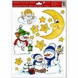 Samolepky vánoce na okna Měsíc  33, 5x26