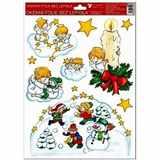 Samolepky vánoce na okna Svíčka  33, 5x26