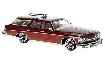 BUICK LE SABRE WAGON 1974 RED / WOOD