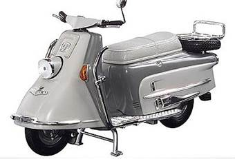 Heinkel scooter Tourist 103 A2 solo 1960-1965 grey